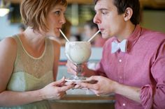 Ice Cream Bar Engagement Shoot