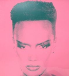 Grace Jones by Andy Warhol.