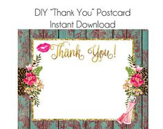LipSense Thank You Postcard LipSense Template Instant