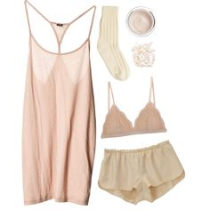 Untitled A fashion look from May 2013 featuring Vanessa Bruno, ruffle lingerie and woollen socks. Browse and shop related looks. Lazy Day Outfits, Casual Outfits, Cute Outfits, Girl Fashion, Fashion Looks, Fashion Outfits, Womens Fashion, Pajama Outfits, Cute Pajamas