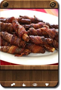 bacon wrapped pretzels mmm
