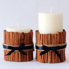 Cadeau de Noël fait maison : une bougie vanille à la cannelle pour ma collègue