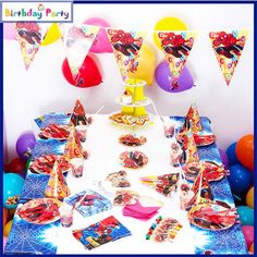 84 Pcs Themed Kids Birthday Party SET – Spiderman 1