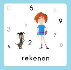 Daglijn Floddertje: rekenen Daily Schedule Preschool, Kids Planner, Schedule Cards, Schmidt, Kindergarten, Homeschool, 1, Clip Art, Classroom