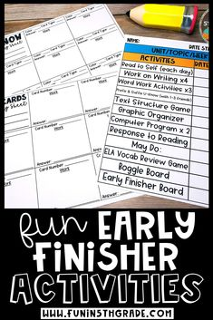 """Check out this blog post with lots of great ideas for early finishers in upper elementary! If you've ever heard """"what do I do now?"""" in your classroom-read this great blog post on how to help those upper elementary early finishers find activities that are effective and efficient but also keeps them on task so they aren't disturbing those students who are still working on their work. You'll find tons of activities plus an anchor chart to help your students determine what they should do Early Finishers Activities, Reading Activities, Writing Strategies, Teaching Writing, Upper Elementary, Anchor Charts, Fun Learning, Classroom Management, Students"""