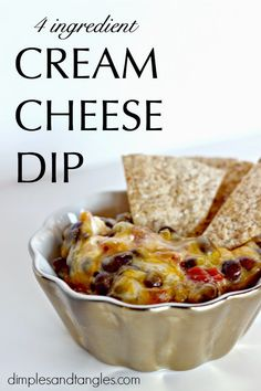 Dimples and Tangles: 4 INGREDIENT CREAM CHEESE SUPER DIP