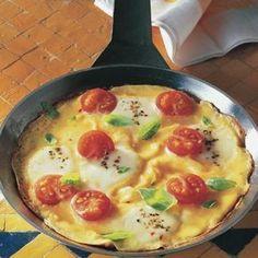 Tomaten-Omelett mit Mozzarella