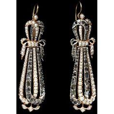 Late 18th c earrings.  V&A