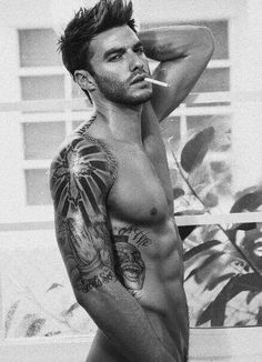 Minus the cig, he is pretty tempting!