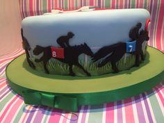 Close up of Horse Racing Cake Decoration