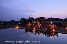 Dinner at the Samode Safari Lodge, Bandhavgarh National Park