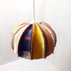 Self-made #hanglamp #interieur #wollendekens #blanket #DIY #retro