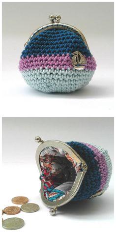 Crochet by GrannyKnowsBest Crochet Wallet, Crochet Coin Purse, Crochet Purse Patterns, Crochet Purses, Knit Crochet, Beginning Crochet, Coin Purse Pattern, Easy Crochet Projects, Fingerless Gloves Knitted