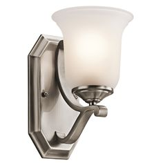 Kichler Lighting Wellington Square 1 Light Wall Sconce in Classic Pewter 45401CLP | Lighting New York