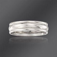 Scott Kay 6mm Men\'s Palladium Wedding Ring. Size 10