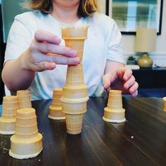 Ice Cream Minute to Win It Game - ShawnMHowell - Ice Cream Minute to Win It Game How many ice cream cones can you stack in 1 minute? Family Party Games, Fun Party Games, Christmas Party Games, Birthday Party Games, Family Game Night, 11th Birthday, Christmas Drinks, Christmas Activities, Summer Activities