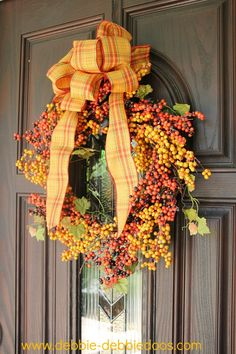 Fall wreath for front door
