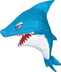 The blue Shark Pinata will make a whale of a splash at your next party. Each shark pinata measures inches by inches by inches. It is made of cardboard and paper. Fill it with your own candy or toys and watch them break it open. Shark Party Supplies, Pinata Party, Ideas Hogar, Under The Sea Party, Hai, Birthday Party Themes, 5th Birthday, Birthday Ideas, Birthday Decorations