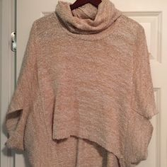 Xhilaration Sweater Tan and cream sweater with wide arm holes. Xhilaration Sweaters Shrugs & Ponchos