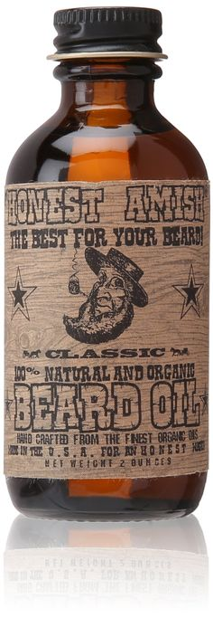 Honest Amish - Classic Beard Oil - 2oz [I love this stuff. I just got my third bottle in the mail yesterday. By far my favorite.]