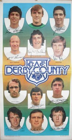 Derby County card in English Football League, Derby County, Texaco, Vintage Football, Football Team, 1970s, Sports, Cards, Museum