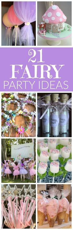 21 Fabulous Fairy Party Ideas | Pretty My Party