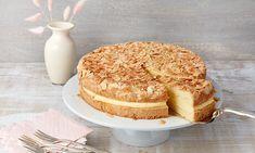 Kolač s pudingom i bademima Recept Baked Brie, Cake Cookies, Vanilla Cake, Camembert Cheese, Fondant, Blitz, Cake Recipes, Bakery, Food And Drink