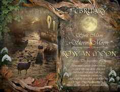 "Book of Shadows Moon:  ""February: Rowan Moon,"" by Angie Latham. It makes a lovely Moon page for a Book of Shadows."