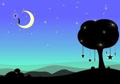 Księżyc, Sen, Fantasy, Surrealistyczne, Noc, Ciemny