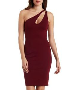One Shoulder Bodycon Dress #CharlotteLook #OnTrend