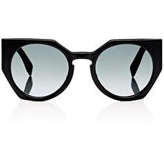 Fendi Women's 0151 Sunglasses ($505) ❤ liked on Polyvore featuring accessories, eyewear, sunglasses, multi, round cateye sunglasses, acetate glasses, round glasses, etched glasses and cat eye sunglasses