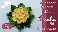 Passo a Passo de Crochê Flor Aninha por JNY Crochê
