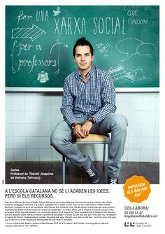 Anunci de la campanya #ImpulsemBaldiri de la Fundació Lluís Carulla. 2013.