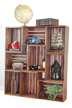Wood Bookcase with Doors . 30 New Wood Bookcase with Doors . Tall Burl Wood Bookcase Function and Beauty Industrial Metal Shelving, Metal Shelving Units, Metal Bookcase, Crate Bookshelf, Cool Bookshelves, Wood Crate Shelves, Crate Furniture, Home Decor Furniture, Diy Home Decor