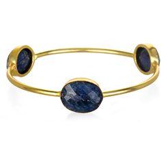 Sapphire vermeil bangle bracelet ($148) ❤ liked on Polyvore featuring jewelry, bracelets, sapphire jewelry, gold vermeil jewelry, bangle jewelry, hinged bangle and bangle bracelet