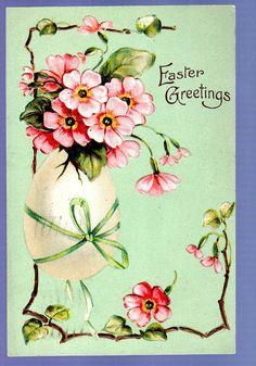 Easter Vintage Postcard the Big Egg Easter Art, Easter Crafts, Easter Ideas, Vintage Cards, Vintage Postcards, Vintage Images, Quilling, Easter Traditions, Easter Printables