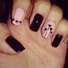 V day inspired nail art