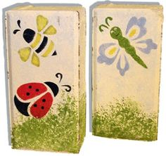 craft painted bricks- something for the summer projects that I can display out front