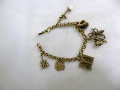 Vintage Goldtone Coro New Orleans Charm Bracelet