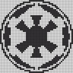 Galactic Empire Emblem - Star Wars Perler Bead Pattern