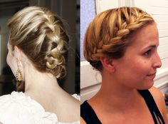 1.  The french braid  This is the braid most people know how to do.  Three pieces, outside pieces alternate going OVER the inside piece, adding new hair to each outside piece as you go.