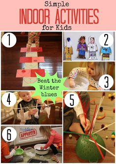 Toddler Approved! Simple Indoor Activities for Kids. How do your kids stay busy when you are stuck indoors?
