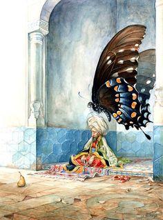 Omar Rayyan의 작품입니다. (Omar Rayyan-American artist and illustrator, paints watercolors.) 최근에 올린 일러스트 작품중에서 가장 괜찮은 작품인것 같네요. 소재도 재미있고..