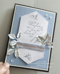 StampinCronelia – Corine van Wijk: Color INKspiration # - Easy Crafts for All Wedding Cards Handmade, Greeting Cards Handmade, Wedding Anniversary Cards, Anniversary Greetings, Happy Anniversary, Stampin Up Catalog, Embossed Cards, Stamping Up Cards, Sympathy Cards