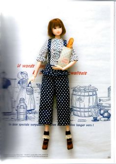 Blouse and Jumpsuits Pattern for Momoko doll clothes by ICAdoll