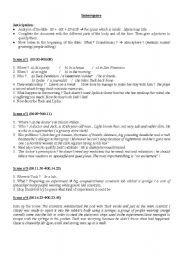 English worksheet: innerspace, the movie