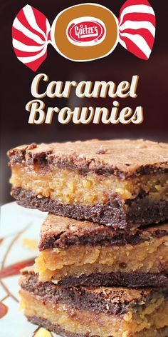 I& so glad that I tried this recipe!s nothing else like these soft, fudgy brownies stuffed with caramel!re easy to make with Goetze& Caramel Creams. Cookie Desserts, Easy Desserts, Delicious Desserts, Yummy Food, Delicious Cookies, Baking Desserts, Caramel Brownies, Fudgy Brownies, Homemade Brownies