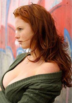 #redhead #cleavage #big breasts