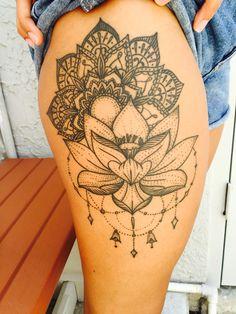 Mandala tattoo. Lotus tattoo. #mandala #lotus