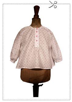 Patron gratuit blouse ample 12 mois